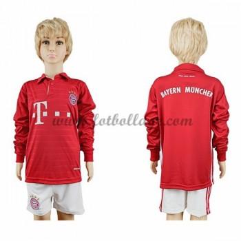 Bayern Munich Fotbollströjor Barn 2016-17 Hemma Matchtröja Långärmad