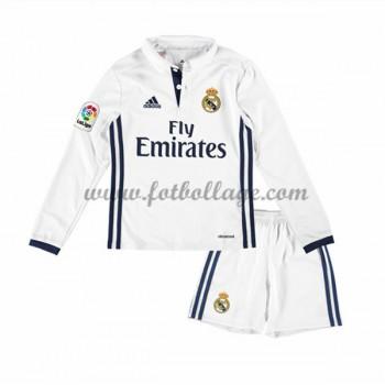 Real Madrid Fotbollströjor Barn 2016-17 Hemma Matchtröja Långärmad