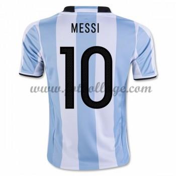 Argentina Landslagströja 2016 Lionel Messi 10 Hemma Tröjor