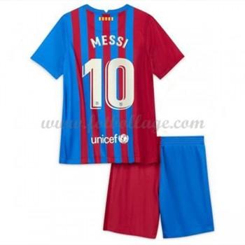 Barcelona Fotbollströjor Barn 2017-18 Lionel Messi 10 Hemma Matchtröja