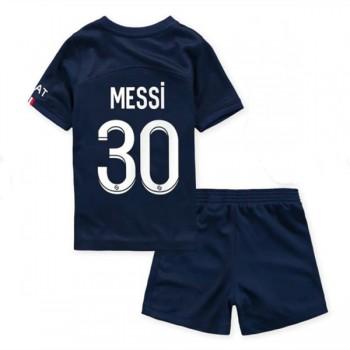 Barcelona Fotbollströjor Barn 2018-19 Lionel Messi 10 Hemma Matchtröja