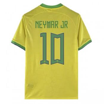 Billiga Fotbollströjor Brasilien VM 2018 Neymar JR 10 Hemmatröja