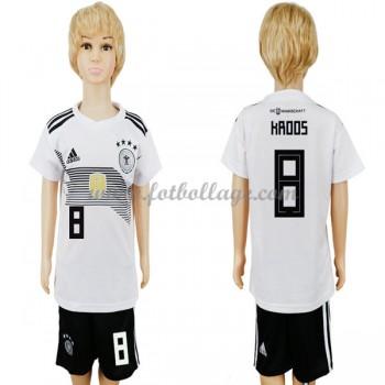 Tyskland Barn Landslagströja 2018 Toni Kroos 8 Hemma Matchtröja