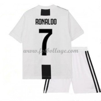Juventus Fotbollströjor Barn 2018-19 Cristiano Ronaldo 7 Hemma Matchtröja