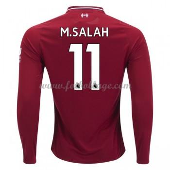 Fotbollströjor Liverpool 2018-19 Mohamed Salah 11 Hemmatröja Långärmad
