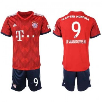 Bayern Munich Fotbollströjor Barn 2018-19 Robert Lewandowski 9 Hemma Matchtröja